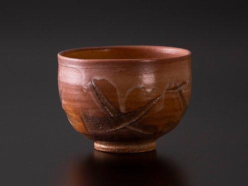 彫唐津茶碗