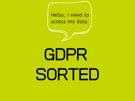 Let's deal with this GDPR thing