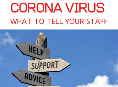 Corona Virus advice for employers