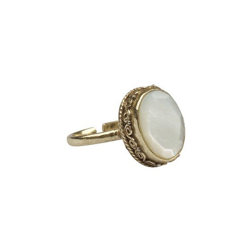 À La sandeep ring mother of pearl onesize