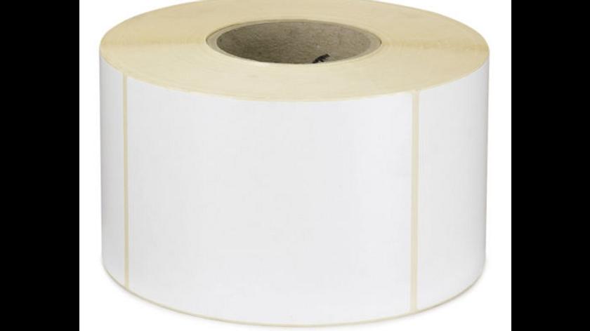 Étiquette vélin permanent mandrin 76 mm 105x148 mm
