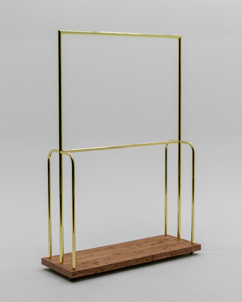 Polished brass luggage cart