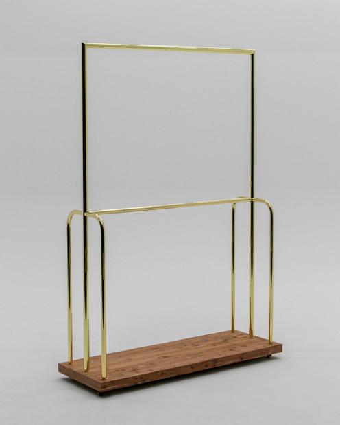 Polished brass luggage cart
