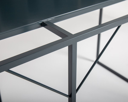 Steel reading table detail