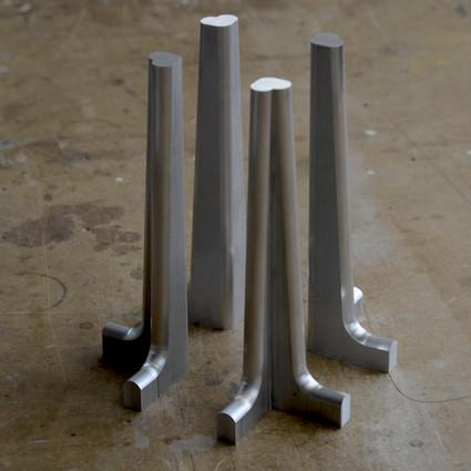 Machined aluminum sofa legs