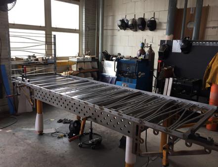 Custom balustrade panel in process