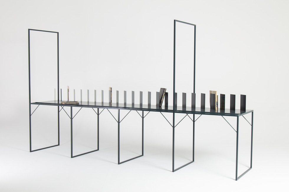 Steel reading table