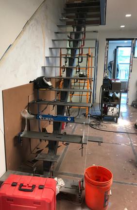 installation of custom stairs