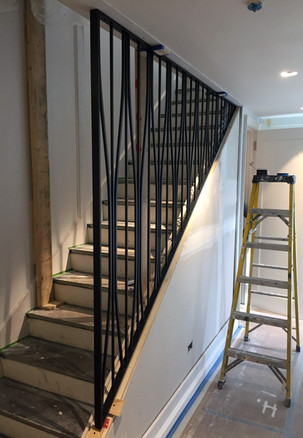 Custom balustrade panel installation