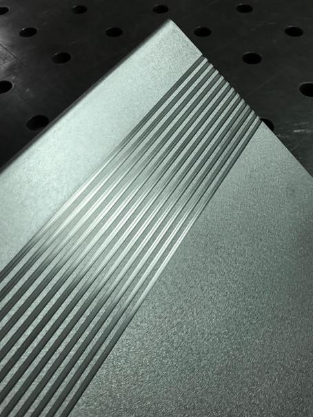 detail of custom tread plate