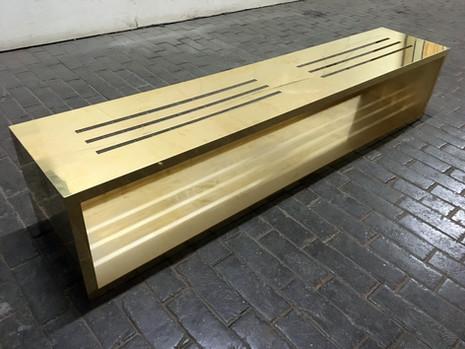 Brass console cladding