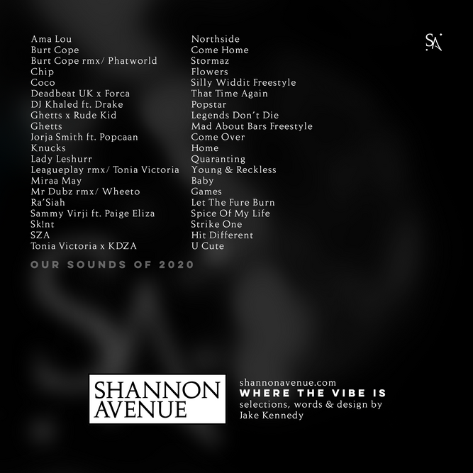 Shannon Avenue presents Our Sounds Of 2020