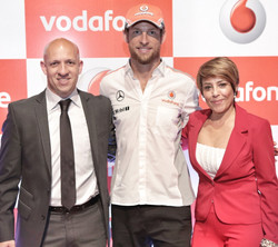 Com Jenson Button, piloto F1