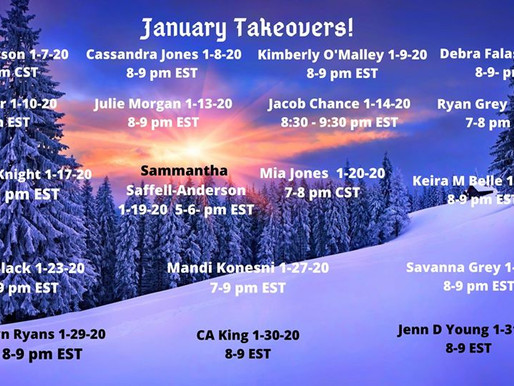 January Takeovers with Shel