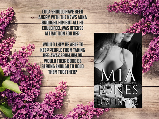 Release Party for Lost In You. June 9th, 12-8pm, at Mia's Passion for Books Facebook page.