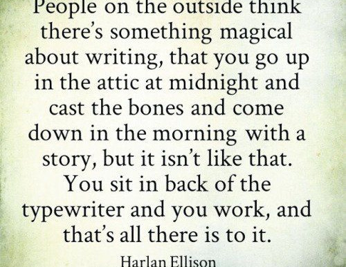 The magic of writing.