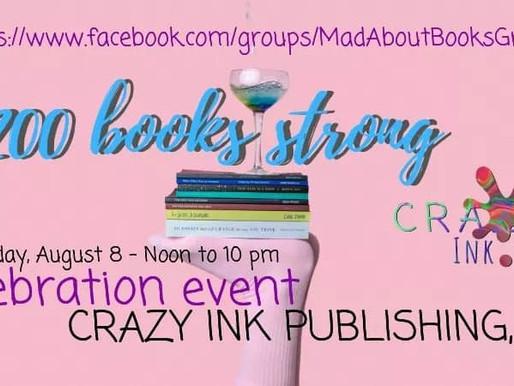 Crazy Ink 200 books published!