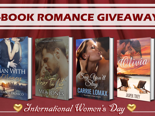 4 Book Giveaway  Go to Mia's Passion for Books Facebook page and enter to win.