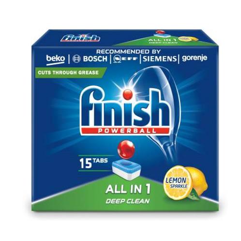 Finish All In 1 Lemon 15 Dishwasher Tablets