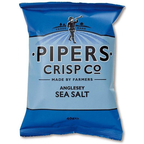 PIPERS ANGLESEY SEA SALT 40GR CRISPS