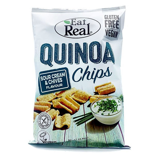 Eat Real Quinoa Sour Cream & Chive Chips 80g