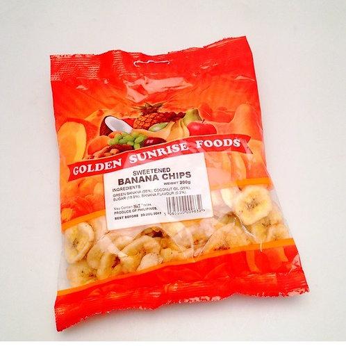 Golden Sunrise Banana Chips 200g