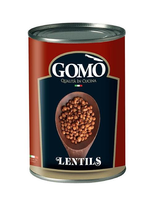 GOMO RED LENTILS 400GR TIN