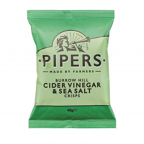 PIPERS CIDER VINEGAR & SEA SALT 40GR CRISPS