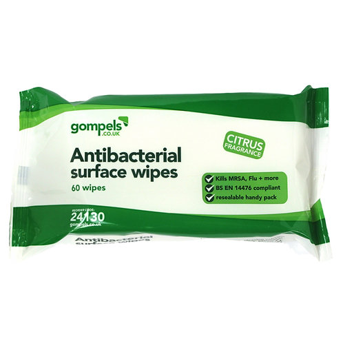 ANTIBACTERIAL WIPES 60 PACK