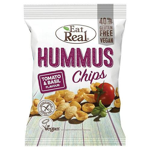 Eat Real Hummus Tomato & Basil Chips 135g