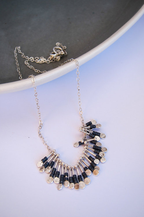 drop and bead dangle necklace