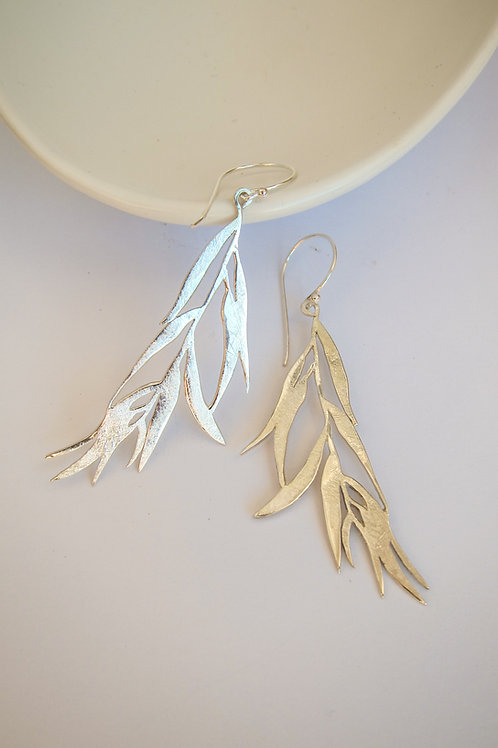 Gum Leaf Dangle earrings