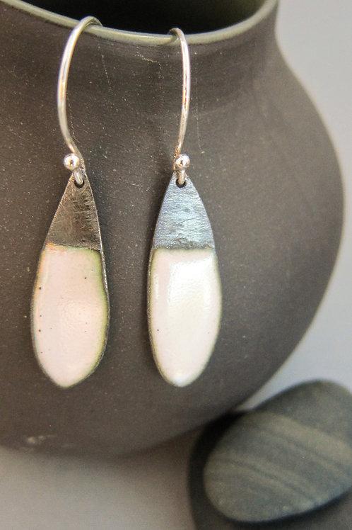 Enamel dipped earrings