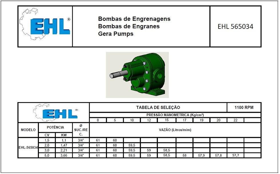 Bomba de engrenagem EHL565034