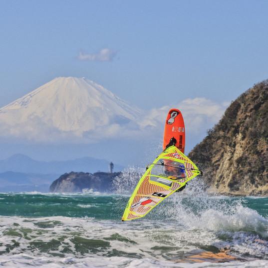 富士山×江ノ島×ウインドサーフィン