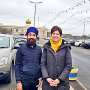 Charandeep Singh at Glasgow Gurdwara with Alison Thewliss MP for Vaisakhi Festival