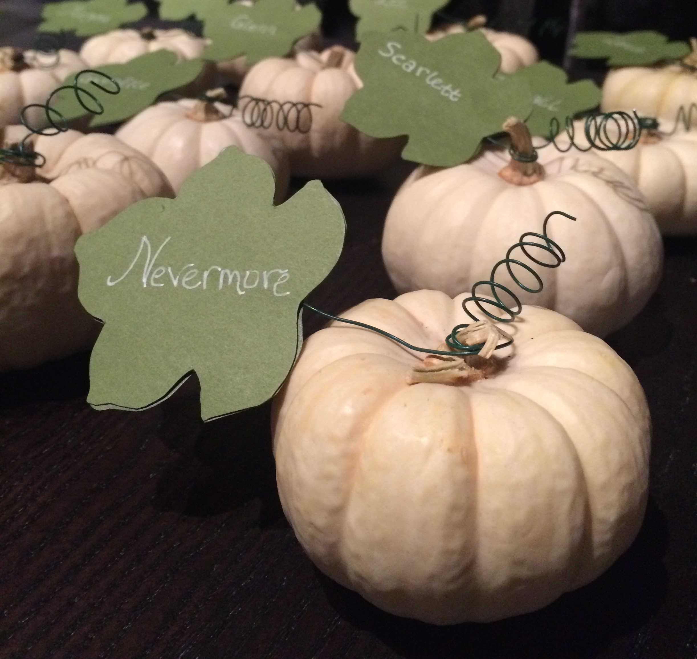 custom pumpkin placecards