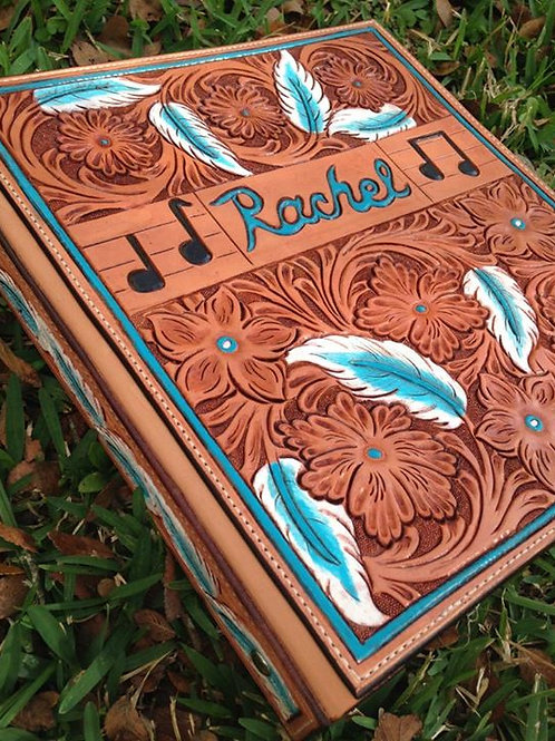 Foral Tooled 3 Ring Notebook
