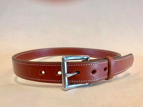 1 1/4 inch Bridle Leather Lined Dress Belt