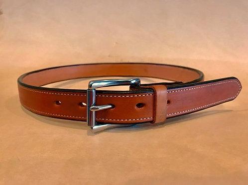 1 1/4 inch Lined Vegtan Leather Dress Belt