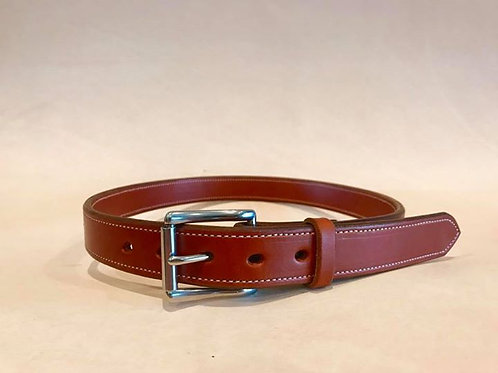 1 1/2 inch Bridle Leather Lined Belt