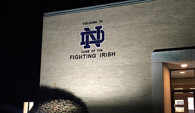 Notre Dame High School New Sign