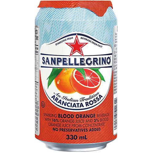 SAN PELLEGRINO Sparkling Fruit Beverage, Aranciata Rossa (Case) 6x330mL