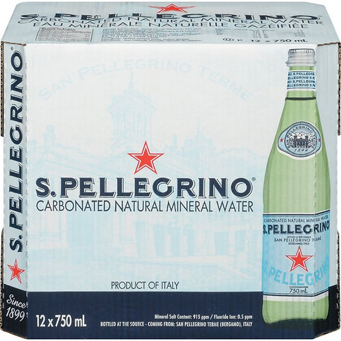 San Pellegrino Mineral Water (Case) 12x750mL
