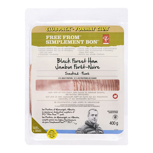PRESIDENT'S CHOICE Free From Black Forrest Ham, Club Pack 400 g