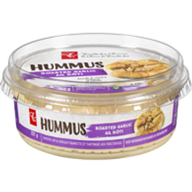 PRESIDENT'S CHOICE,Hummus, Roasted Garlic 227 g
