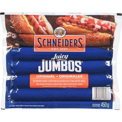 SCHNEIDER Juicy Jumbos Wieners Original 450 g