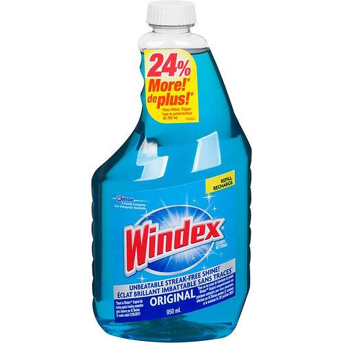 WINDEX Original Cleaner Refill with Ammonia-D 950 mL