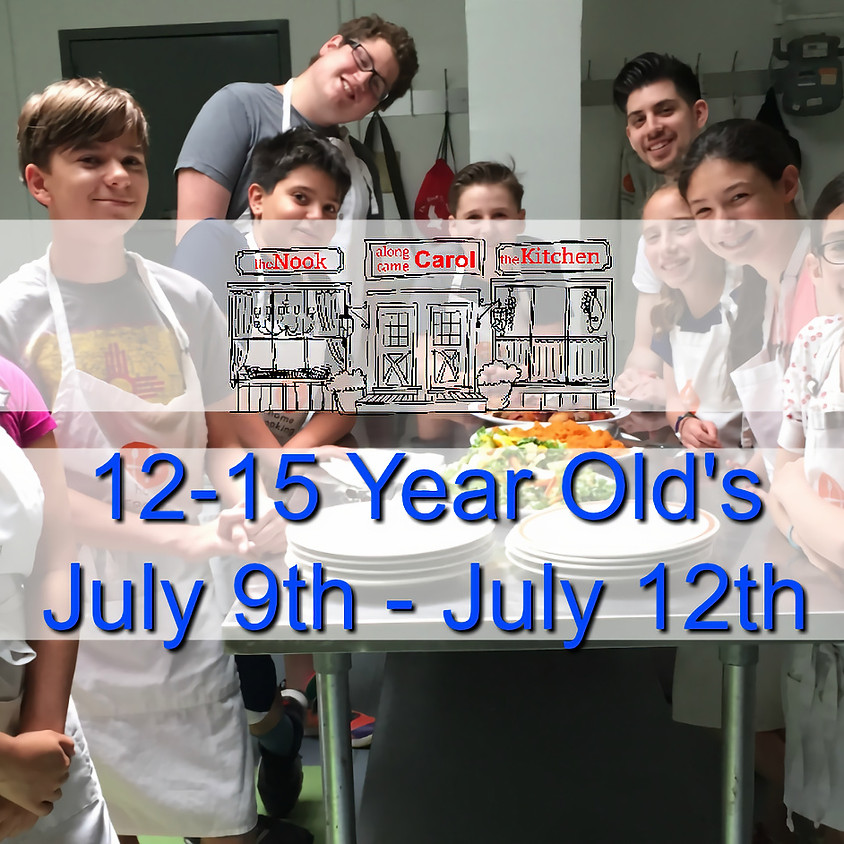 12-15 Year Old's Summer Camp • July 9-12
