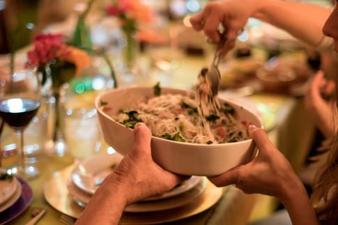 Vegetarian home made capellini